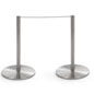 One Unit of the 6-Stanchion Silver Low Profile Barrier Set