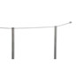 Showing Part of the Kit of 4-Post Silver Low Profile Stanchion Barrier