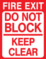 Non-slip exit safety floor decal with pre-printed graphics