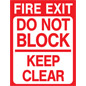 Vinyl non-slip exit safety floor decal