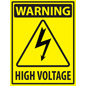Vinyl electrical hazard industrial warning sticker with non-slip surface