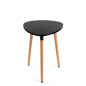 Black low triangular side table for home and office