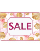 Removable retail sale stickers for floor with adhesive backing