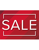 SALE walk on red floor decals for indoor or outdoor use
