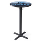 "24"" Custom logo bar table for brand graphics or messaging"