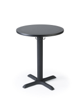 Pedestal cafe table comfortably seats two