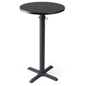 "Round black cruiser table with 24"" diameter top"
