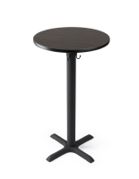 "24"" round tall highboy table with mocha walnut finish for restaurants"