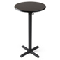 Round tall highboy table in bar height