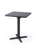 "Modern styled 24"" black square café table"