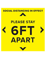 Pre printed social distancing floor decal