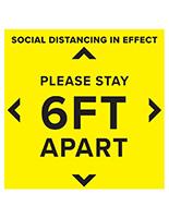 Pre printed social distancing floor decal