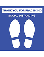 Outdoor and indoor social distancing floor graphic