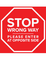 Stop do not enter sticker with self-adhesive backing