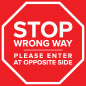 Stop do not enter sticker with outdoor and indoor surfaces