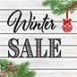 "24"" x 24"" square ""Winter Sale"" floor decal with non-slip coating"