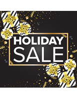 24 x 24 gift themed holiday sale floor vinyl sticker