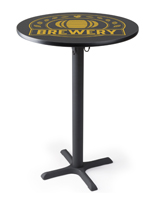 "30"" Custom logo pub table with personalized top"