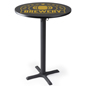 Round custom logo pub table with full color printed tabletop
