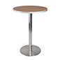 Restaurant style bistro lunchroom table with steel base
