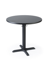 "30"" round restaurant dining table in cafe height"