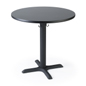 Durable black round restaurant dining table