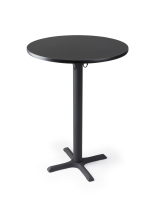 Black bar table in pub height