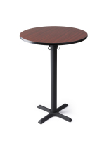 "30"" cocktail pedestal table in bar height"