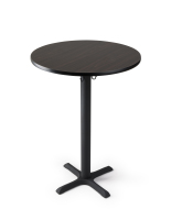 "30"" black standing bar table for high traffic areas"