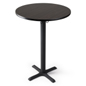 Standing bar table with durable top