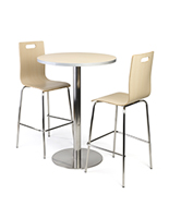 Bar height table and chairs cafeteria set