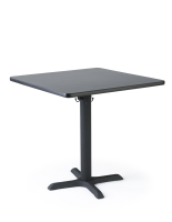 "30"" Square laminate restaurant table in cafe height"