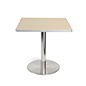 Cafeteria height pub table with steel base