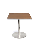 Dining height breakroom cafe table in dark finish
