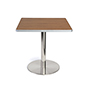 Dining height breakroom café table with steel base
