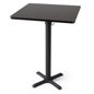 "Easy set-up 30"" wide mocha walnut square high top table"