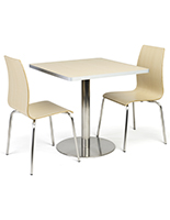 Café height table breakroom set with chairs