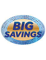 Durable indoor outdoor BIG SAVINGS floor decals