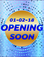 Blue Dots - Opening Soon - Custom Date