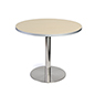 Dining height breakroom pub table with light finish wood top