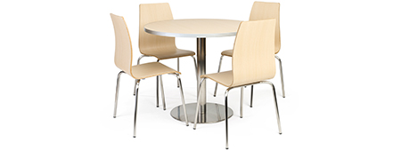 dining table set with 4 stackable chairs
