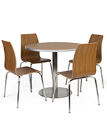 Bistro style lunchroom table and chairs complete with seating