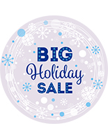 "36"" x 36"" round ""Holiday Sale"" floor decal with textured vinyl"
