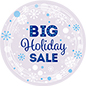 "36"" x 36"" round ""Holiday Sale"" floor decal for reuse"