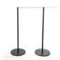 Cord of the 10-Stanchion Black Museum Barrier System Includes Elastic Cord