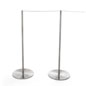 Two Posts and Rope of the 8-Barrier Silver Gallery Stanchion Set