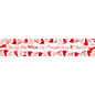 4 x 24 holiday social distancing floor sticker with pre-printed candy cane graphic