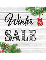 "48"" x 48"" square ""Winter Sale"" floor decal with non-slip coating"