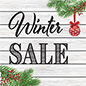 "48"" x 48"" square ""Winter Sale"" floor decal with textured upper"