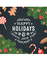 "48"" x 48"" square ""Happy Holidays"" floor decal with adhesive backer"
